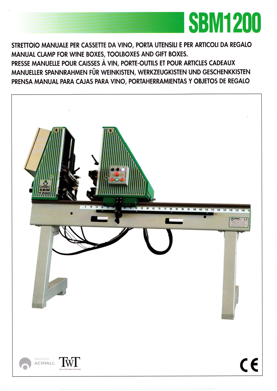 Strettoio manuale per cassette da vino usato Omec SBM1200 Ce