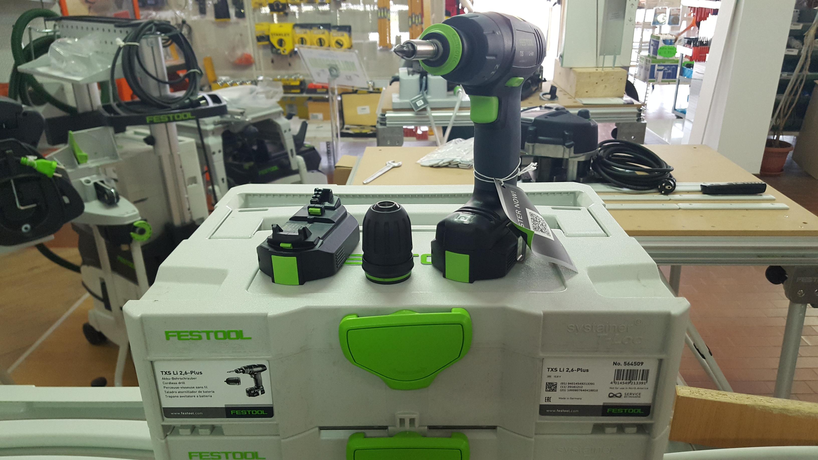 Trapano avvitatore a batteria Festool TXS Li 2.6 Plus
